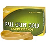 Alliance Pale Crepe Gold Size #107 (7 x 5/8 Inches) Premium Rubber Band, 1 Pound Box (Approximately 60 Bands per Pound) (21075)