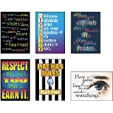 Motivational Poster Combo Pack - 6 Building Character Themed Posters
