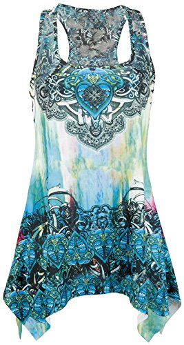 Innocent Heart Celtic Top donna verde acqua XXL