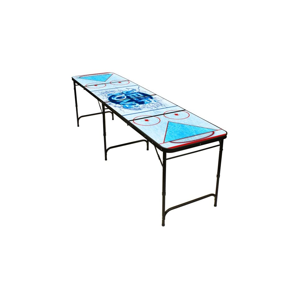 Hockey Beer Pong Table 8ft Premium Hd Design Black Aluminum With