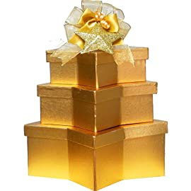 Sweetest Star Chocolate and Cookies Gift Box Tower with Ornament