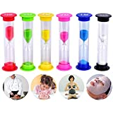 Sand Timer-Senbowe™ 6 Pack Colorful Sandglass Hourglass Sand Clock Timer /- 30sec / 1min / 2mins / 3mins / 5mins / 10mins for Classroom, Kitchen,Games -Great Gift for Your Children