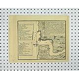 Impresión Antigua del Mapa de la Carga del Río del Pueblo de San Lorenzo del Castillo del Proyecto C1880