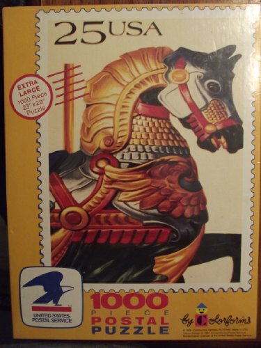 25c Stamp US Postal Service Merry Go Round Horse Puzzle