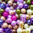 k2-accessories 200 pieces 6mm Glass Pearl Beads - Assorted Mixed - A0978-A