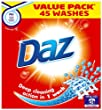 Daz Regular Laundry Detergent Powder 45 Washes (Pack of 4, Total 180 Washes)