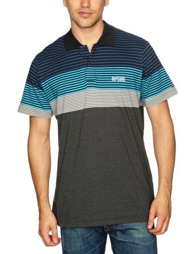 RIP CURL Zontal Short Sleeve Polo Logo Men's T-Shirt Dresden Blue Small
