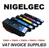 SET OF 5 XL COMPATIBLE INK CARTRIDGES FOR USE IN EPSON Expression Premium XP-600 XP-605 XP-700 XP-800 26 26XL BLACK PHOTO BLACK CYAN MAGENTA YELLOW, CHIPPED AND READY TO GO & FULLY GUARANTEED