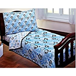 blue toddler boy bedding