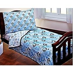 blue toddler boy bedding