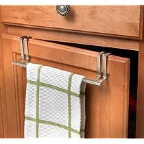 Over Door Towel Holder Brushed Nickel