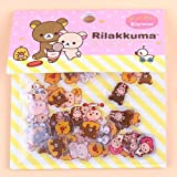 80PCS/lot Rilakkuma Mini Paper Sticker Bag DIY Diary Planner Decoration Sticker Album Scrapbooking Kawaii Stationery Stickers (2)
