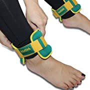 3 Pound Ankle Weights Set and Carry Pouch - Premium High Quality Adjustable Ankle and Wrist Cuffs
