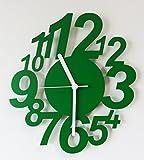 """WBB Designer Funkwanduhr """"Flying times"""" farbe grün"""