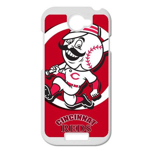 Generic Cell Phone Cases Cover For Htc One S Case Forever Collectibles Fashionable Designed Baseball Team Cincinnati Reds Background Durable Plastic Shell