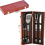 Picnic Plus 4 Piece Chairman BBQ Set - Rosewood