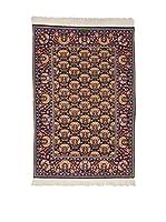 Eden Carpets Alfombra Hereke Baff Azul/Marrón/Multicolor 212 x 144 cm
