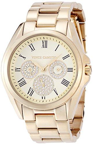 Vince Camuto Dorado para Mujer reloj infantil de cuarzo con esfera analógica y dorado correa de acero inoxidable de VC-5186CHGB