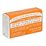 Dr. Bronner's Magic Soaps Pure-Castile Soap , All-One Hemp Tea Tree , 5-Ounce Bars (Pack of 6)