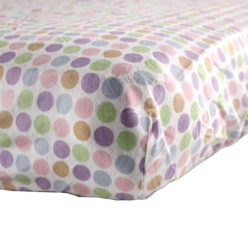 Luvable Friends Fitted Crib Sheet, Pink Circle - 1