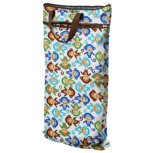 Planet Wise Hanging Wet/Dry Diaper Bag, Monkey Fun Color: Monkey Fun Newborn, Kid, Child, Childern, Infant, Baby back-596636
