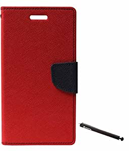 DMG Mercury Goospery Case Fancy Diary Flip Wallet Cover for Samsung Galaxy Grand i9082 (Red) + Griffin Stylus