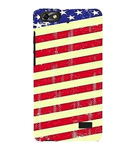 PrintVisa USA Flag Denim Pattern 3D Hard Polycarbonate Designer Back Case Cover for Huawei Honor 4C