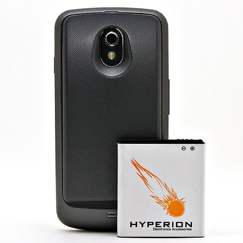 Hyperion Verizon Samsung Galaxy Nexus 3800mAh Extended Battery + Back Cover (Compatible ONLY with Verizon Samsung Galaxy Nexus SCH-i515) NOW WITH NFC CAPABILITIES