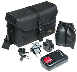 Kodak EasyShare Travel Kit, contents: EasyShare Rapid Charger, EasyShare Battery Pack, WW Plugs, Premium Bag,