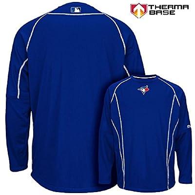 Toronto Blue Jays MLB Men's Therma Base On-Field Practice Pullover Fleece - Blue