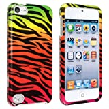 eForCity Snap-On Case for Apple iPod touch 5G, Colorful Zebra