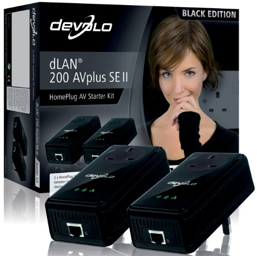 Devolo 1579 dLAN 200 AVplus SE II (Special Black Edition) Starter Kit