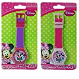 Disney Minnie Mouse Digital LCD Wrist Watch Boys Stocking Stuffer - 2 Piece