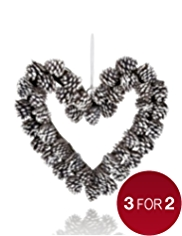 Heart Shaped Pine Cone Wreath