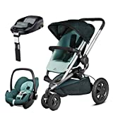 Quinny Buzz Xtra Novel Nile with Pebble Car Seat and Familyfix Base