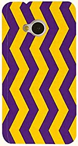Brilliant multicolor printed protective REBEL mobile back cover for HTC One M7 D.No.N-T-4641-M7