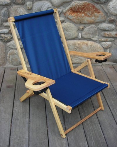 Outer Banks Wood Beach / Picnic Chair - Navy Blue