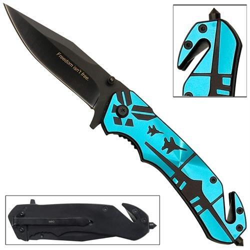 Us Air Force Fighter Jet Emergency Glass Breaker Belt Cutter Survival Pocket Folding Knife