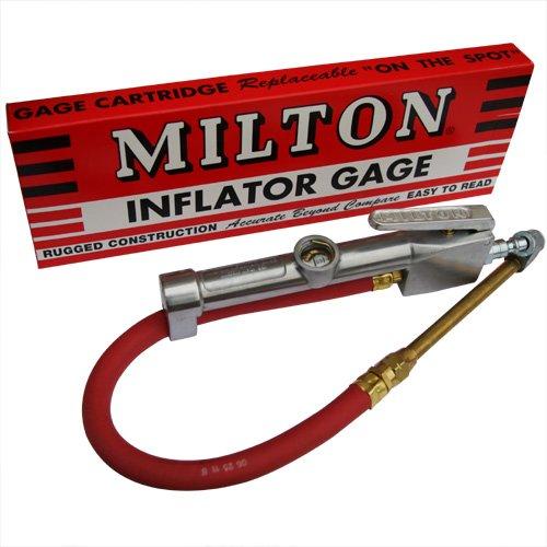Milton S506 Dual Head Inflator Gauge with 12 Air Hose