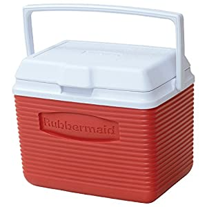 Rubbermaid  10-Quart Personal Ice Chest Cooler, Red