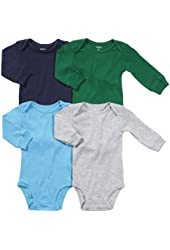 Carter's Baby Boys' 4-Pack L/S Bodysuits