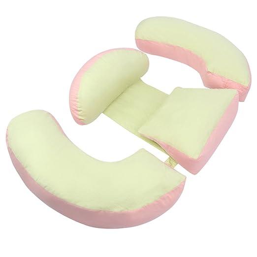 ZWL Multifunción de las mujeres embarazadas U almohada almohada Almohada de enfermería Proteger la almohada del lado de la cintura Almohada de sueño Cuidado lateral del abdomen moda. z ( Color : B )