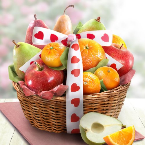 Valentines Day Favorites Fruit Basket Gift