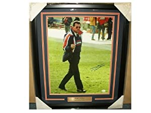 MIKE DITKA AUTOGRAPHED FRAMED 16X20 PHOTO FINGER CHICAGO BEARS JSA COA