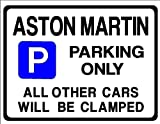ASTON MARTIN Car Parking Sign- Gift for DB 6 V8 DB6 VANTAGE 2 4 model owner- Size Large 205 x 270mm by Custom (Made in UK) (All fixing included)