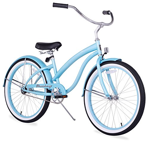 Firmstrong Bella Classic Single Speed Beach Cruiser Bicycle, 24-Inch, Baby Blue