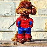 BeauVillage(ボー・ヴィラージュ)スーパーヒーローに大変身!犬猫二足歩行コスチューム2足歩行スーツコスプレ(S,スパイダーマン)
