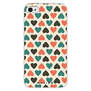 Mozine Blue Love Pattern printed mobile back cover for Apple Iphone 4