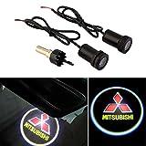 CHAMPLED® For MITSUBISHI Car Auto Laser Projector Logo Illuminated Emblem Under Door Step courtesy Light Lighting symbol sign badge LED Glow Performance