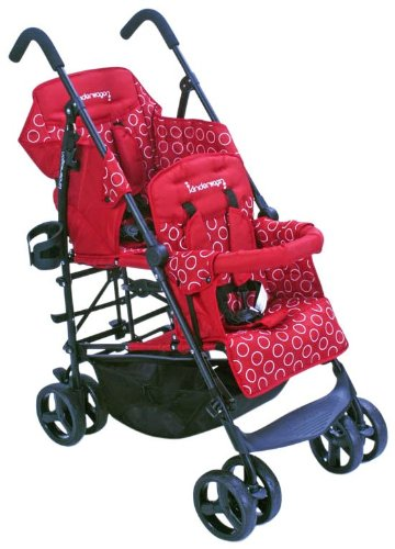 Kinderwagon Hop Tandem Stroller Red Baby Shop